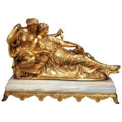 Large Mid-19th Century Barbedienne Gilt Bronze Figure of 'The Fates'