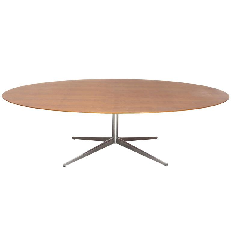 Large Oval Dining Table Designed By Florence Knoll 1960s At 1stdibs