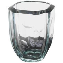 Thick Glass Vintage Vase