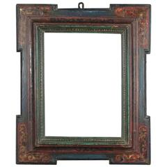 Beautiful Spanish Renaissance Frame Mounted as Mirror, 16th-17th Century