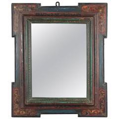 Beautiful Spanish Renaissance Frame Mounted as Mirror, 16th-17th Century