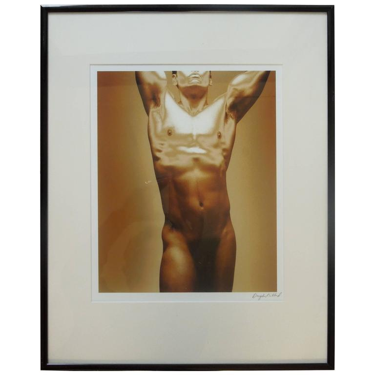 "Rare Male Nude Photograph by Douglas Kirkland ""Golden Boy"""
