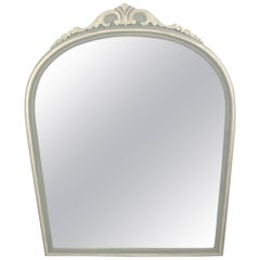 Carved French Gray Mirror