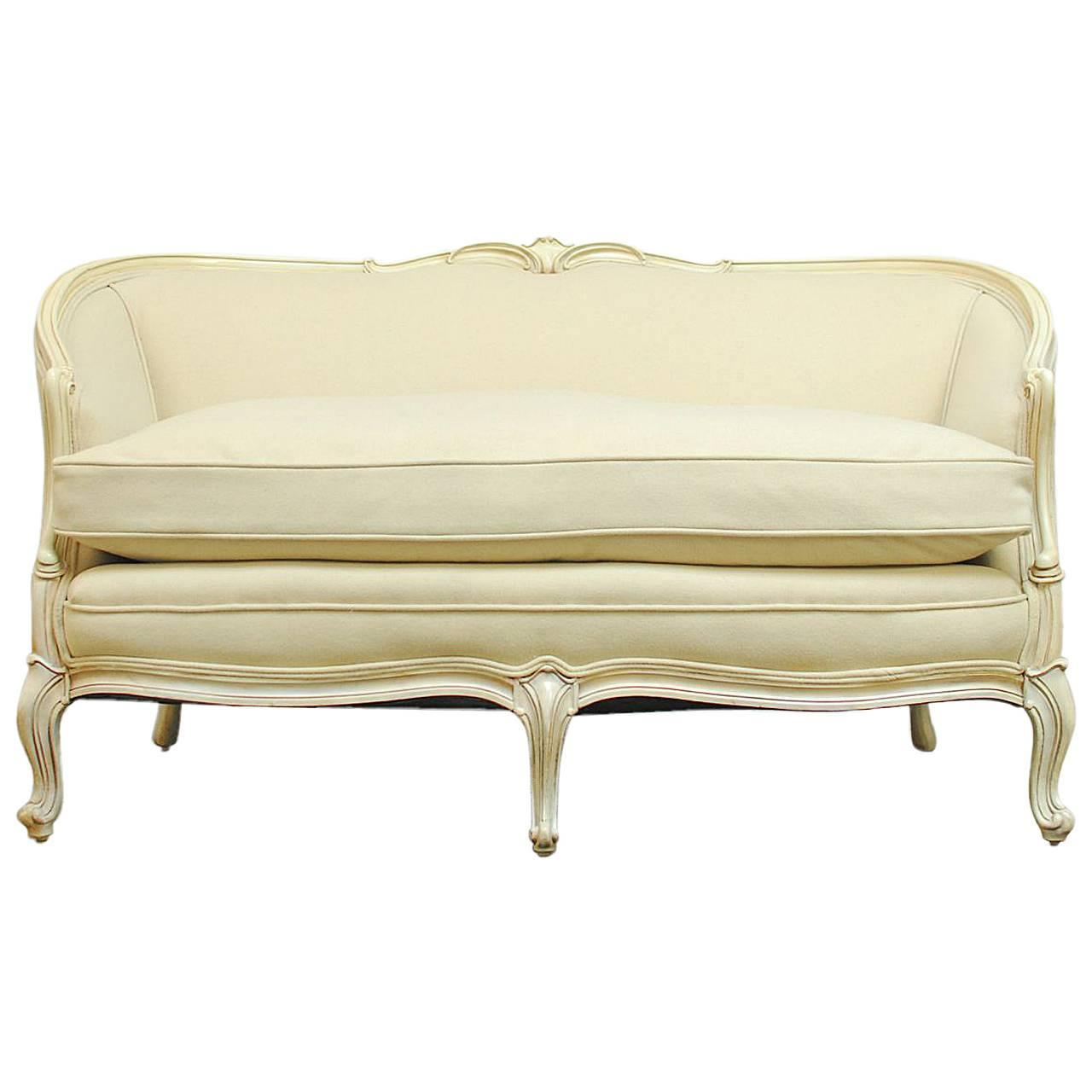 French Louis Xv Style Loveseat Settee At 1stdibs