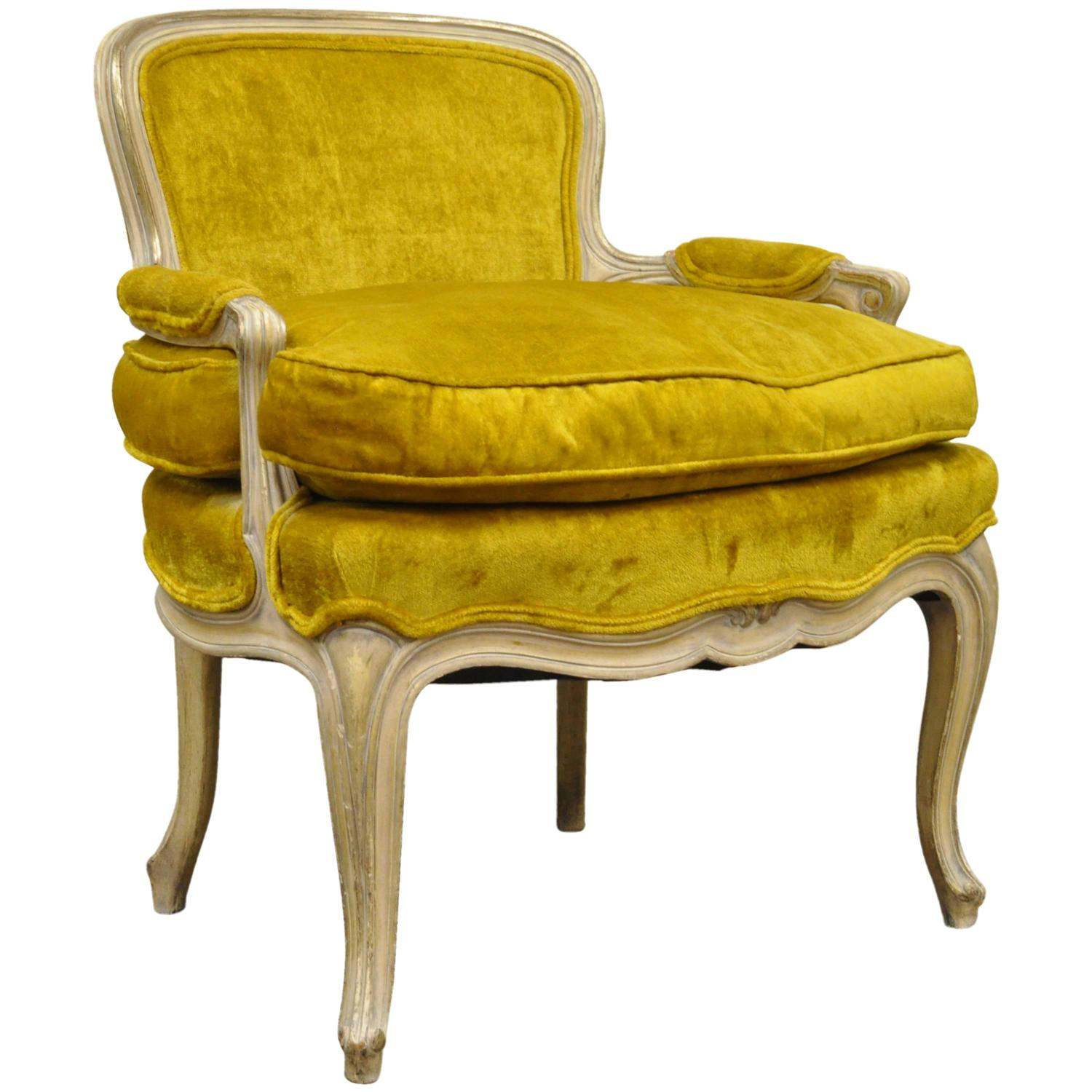 Unique 1950s Small French Boudoir Louis XV Style Childu0027s Bergere Armchair  At 1stdibs