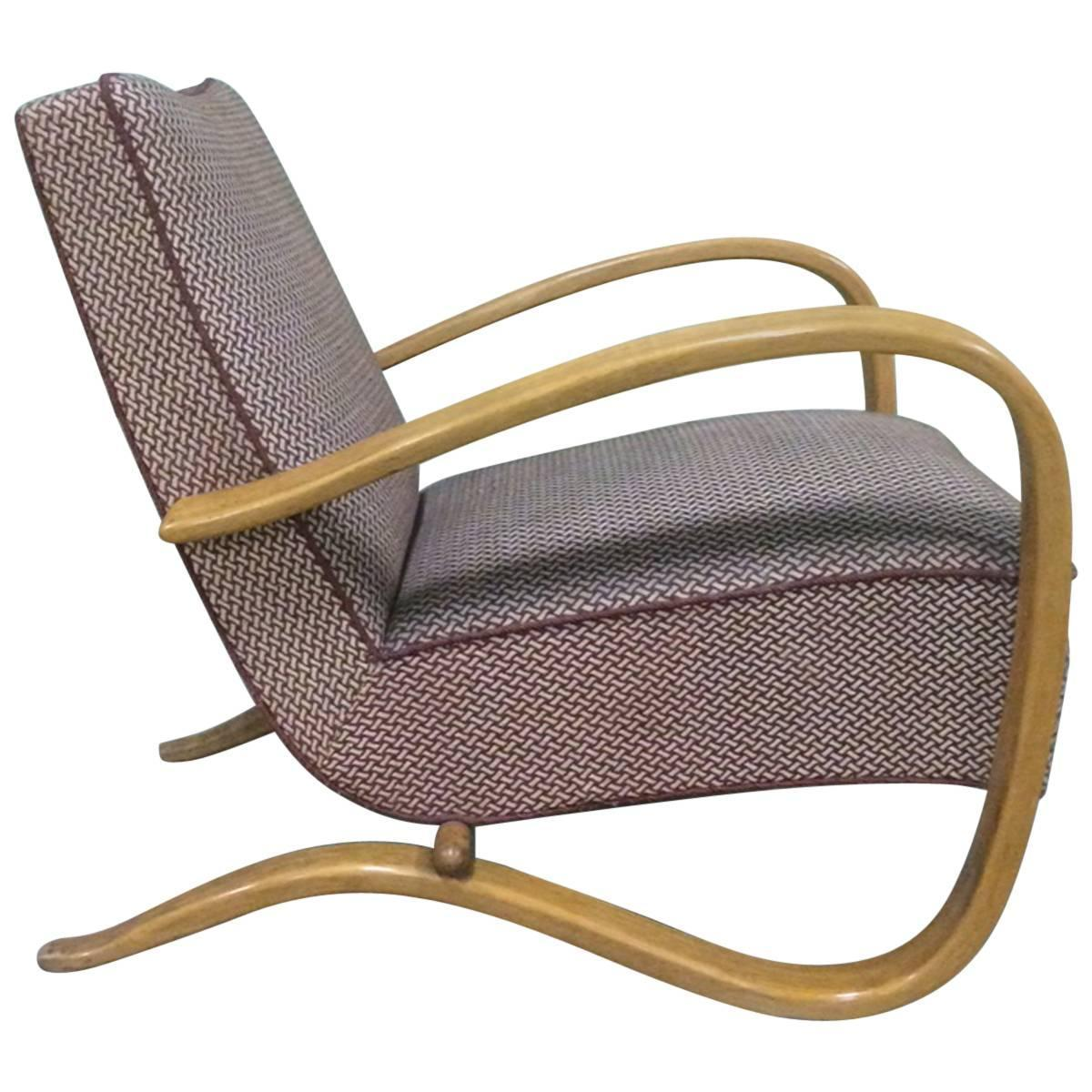 Single lounge chair by halabala for sale at 1stdibs for Single lounge chairs for sale