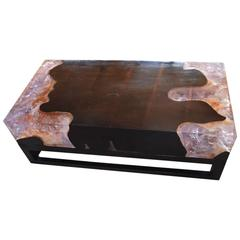 Cracked Resin Coffee Table