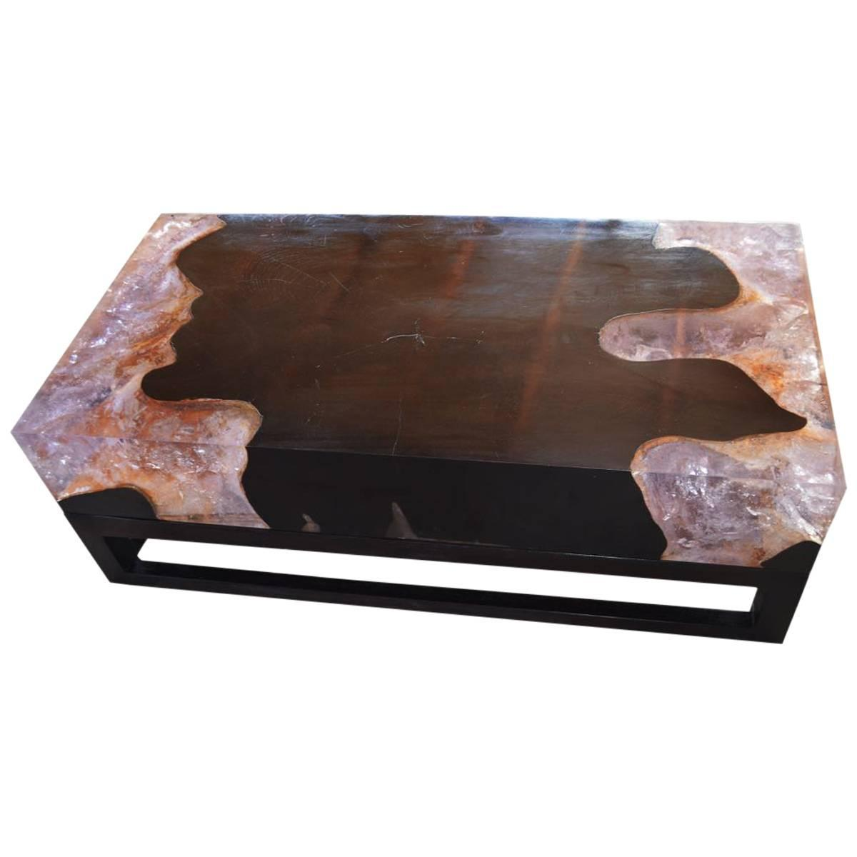 Cracked Resin Coffee Table At 1stdibs