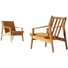 Poul M. Volther Pair of Armchairs in Solid Oak