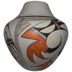 Hopi Polychrome Native American Ceramic Pot by Eunice Navasie