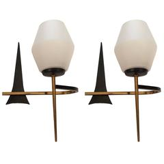 French Enamel Wall Lights : Enamel Wall Lights and Sconces - 93 For Sale at 1stdibs