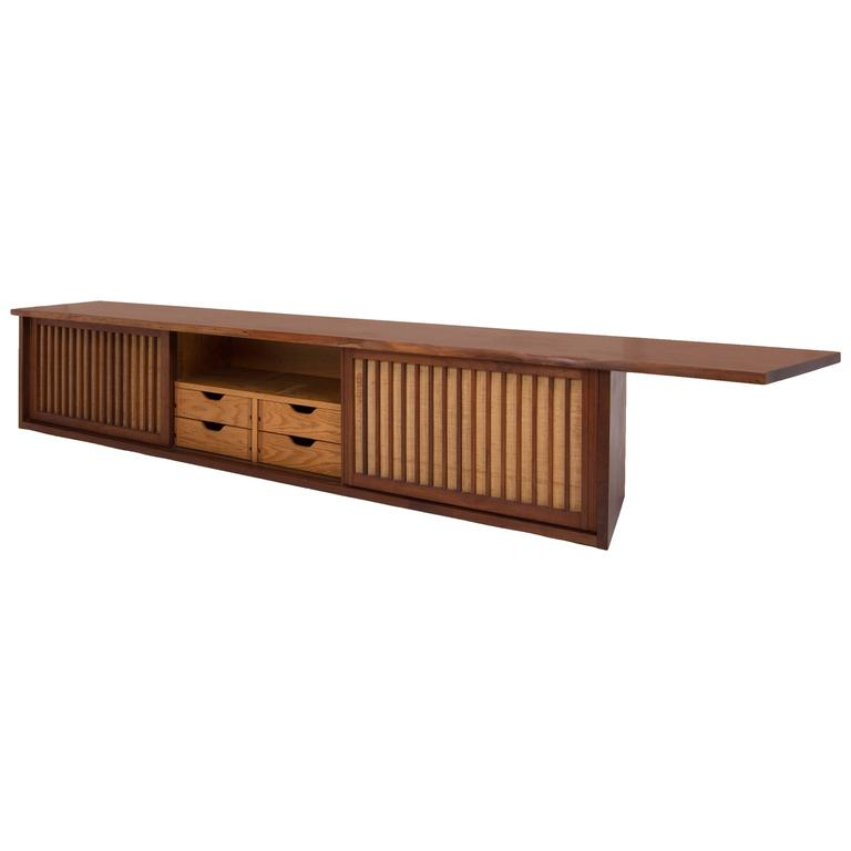 Mid-Century Walnut Wall Cabinet by George Nakashima For Sale