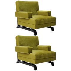 Pair of Paul Laszlo Club Chairs