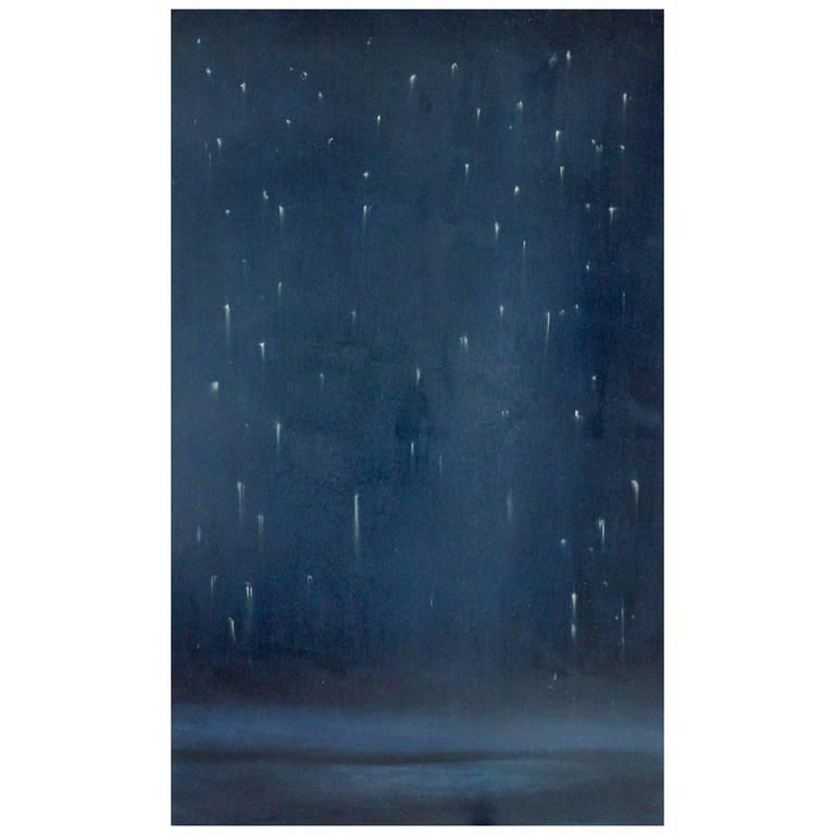 'Falling Sky II' Oil on Birchwood Panel
