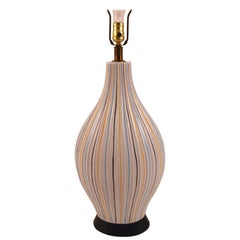 Sgraffito Ceramic Pottery Lamp
