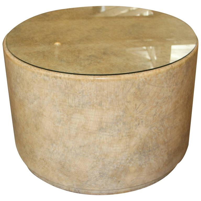 Gina Berschneider Large Alder Wood Table Round Wood Table For Sale