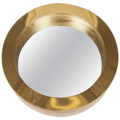 Signed Curtis Jere' Mirror in Brass