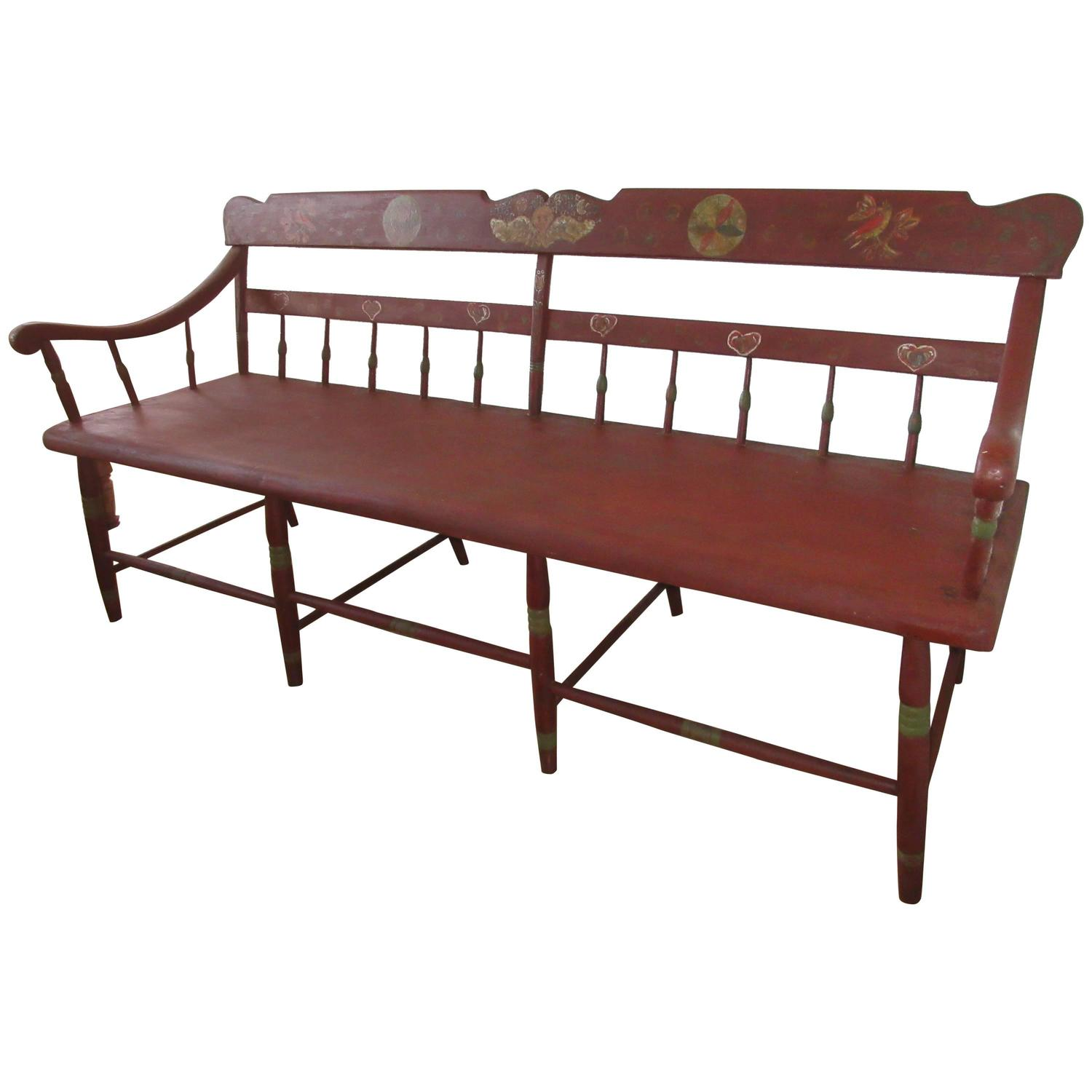 Late 19th Century Pennsylvania Deacons Bench Or Settle At 1stdibs