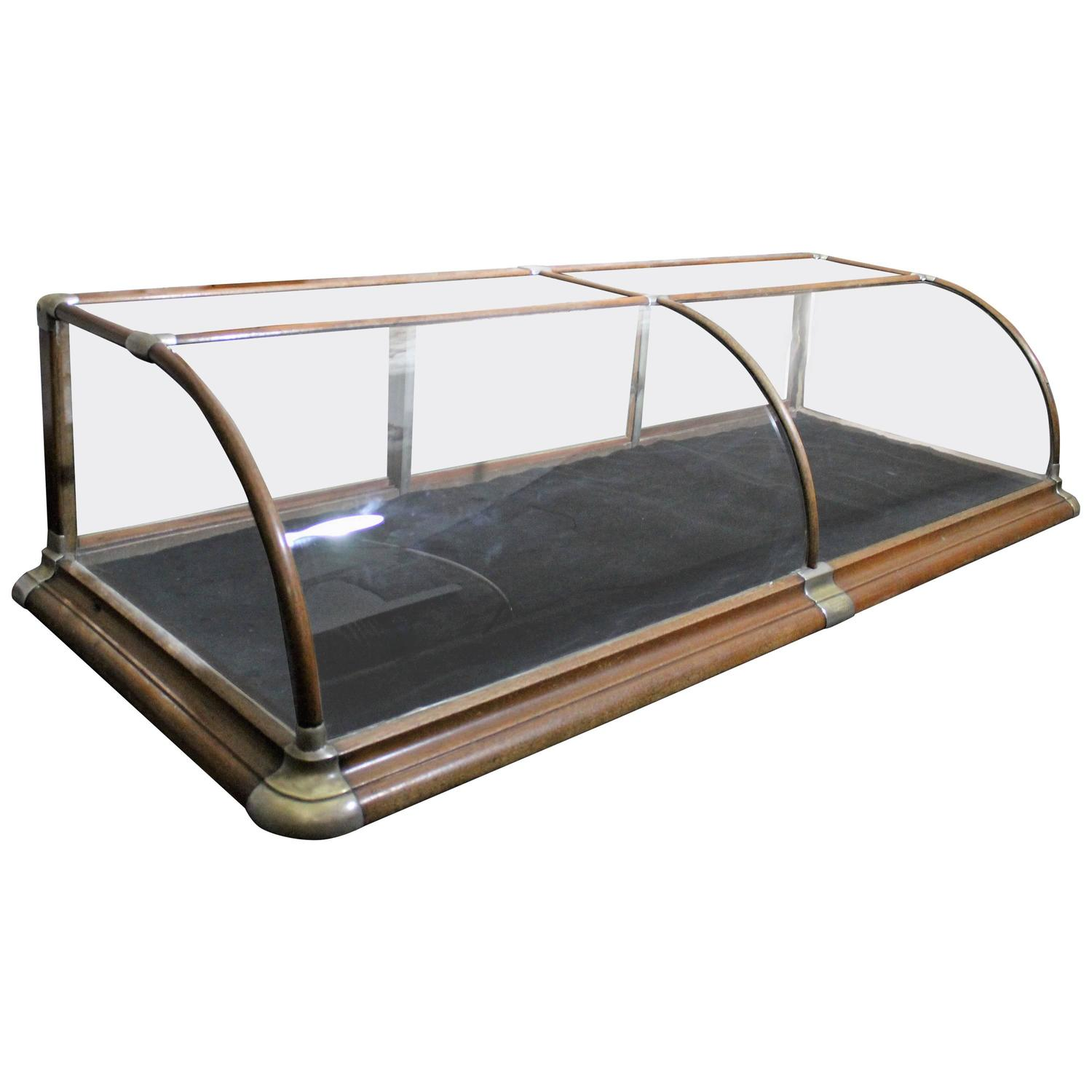 counter top store display showcase with curved glass at 1stdibs