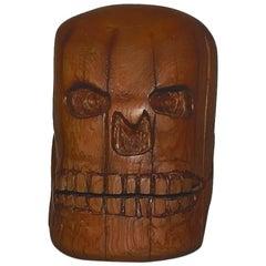 Patrocino Barela Wood Sculpture, Skeleton Head
