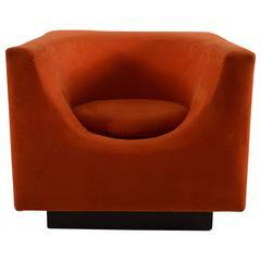 Mod Cube Chair in Orange Ultrasuede