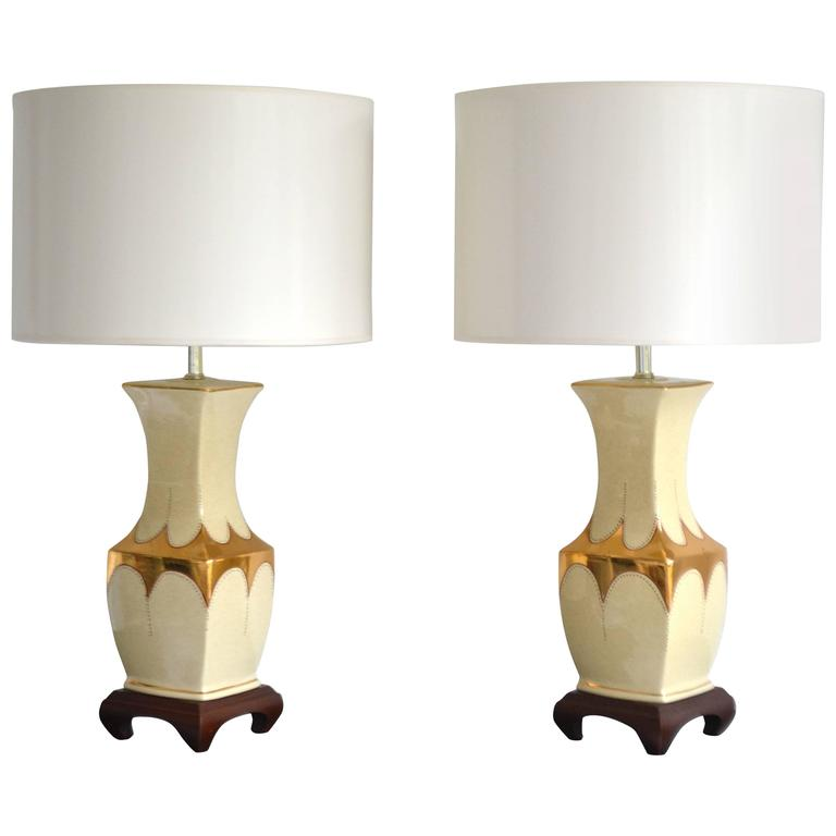 Pair Of Hollywood Regency Table Lamps For Sale At 1stdibs