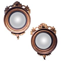 Pair of English Convex Mirrors, Mid-19th Century