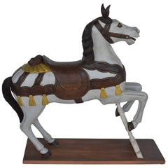Painted Wooden Carousel Horse