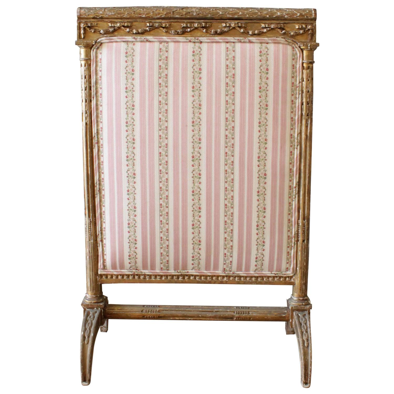 18th Century Gilded Fireplace Screen For Sale At 1stdibs