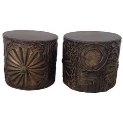 Brutalist Pair of Adrian Pearsall Side Tables for Craft Associates