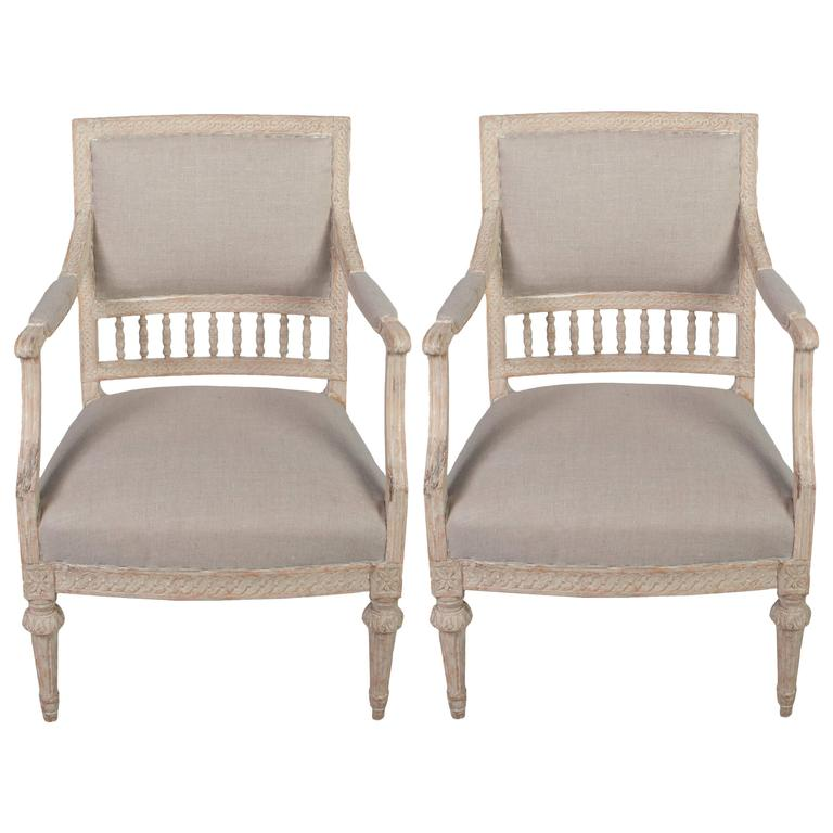 Italian Sofa Brent Cross: Pair Of Italian Carved Wood Armchairs With Serpentine, X