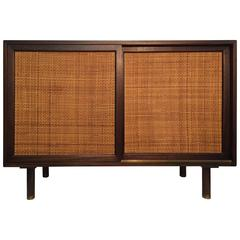 Harvey Probber Mahogany and Cane Cabinet