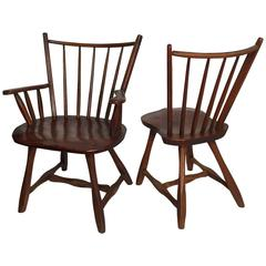Two Fine Studio Oak Arts and Crafts Chairs