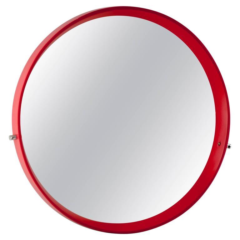 Scandinavian Wood Mirror by Uno and Osten Kristiansson