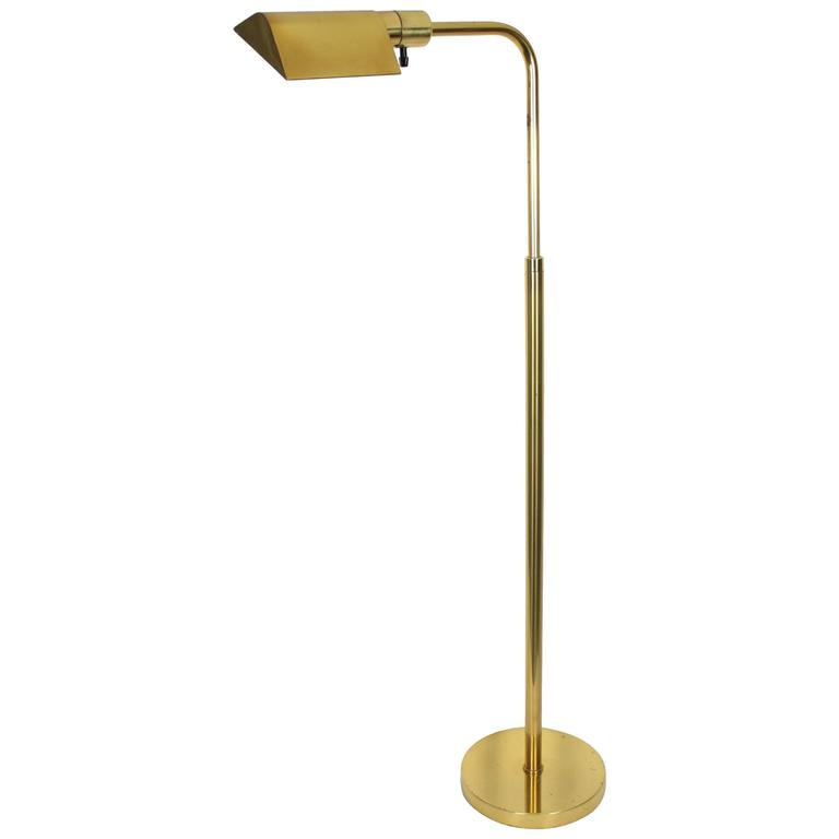 1960s signed hansen lamps new york brass swivel floor lamp