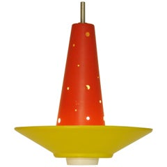 Dutch Colorful Mid-Century Modern Pendant Lamp Model '4046' by Anvia