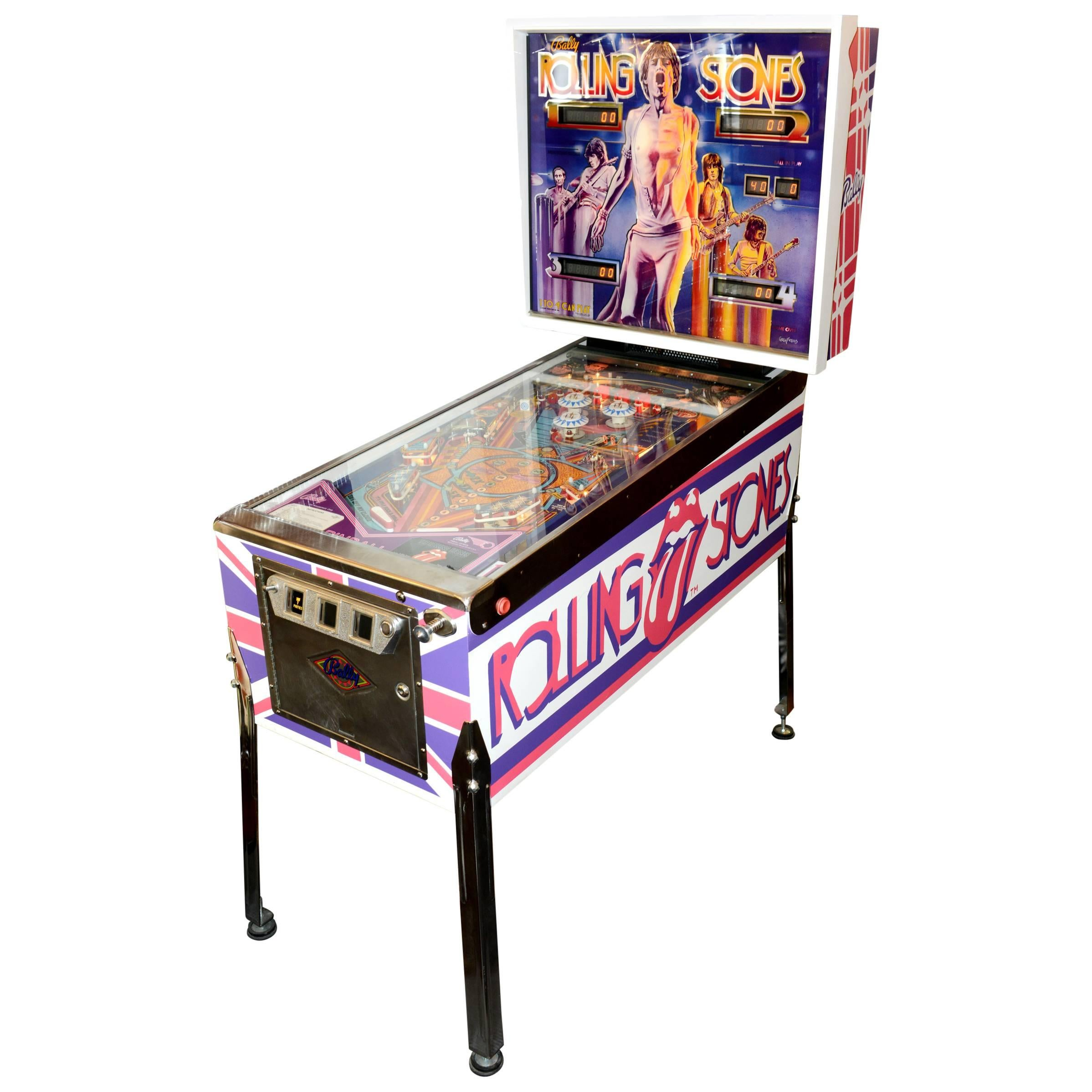Pinball Rolling Stones Collector 1980s Completely Revised
