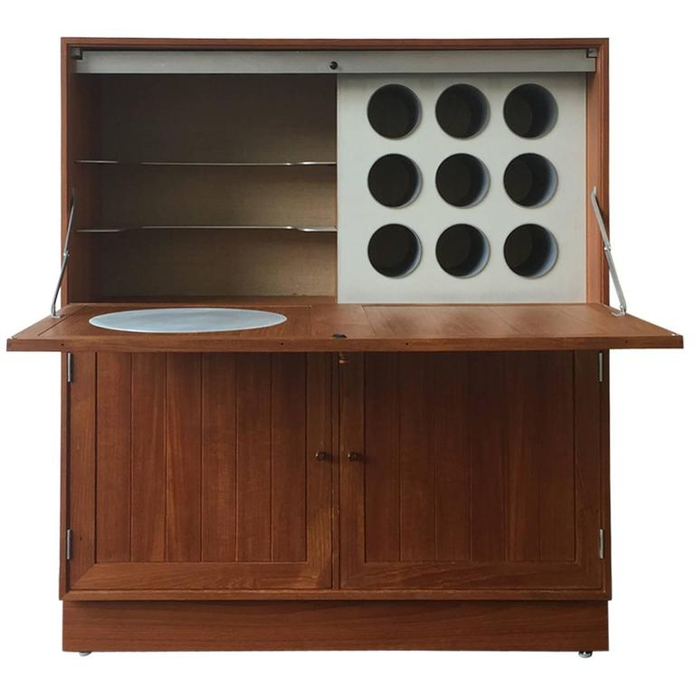 Space Age Meets Tradition Bar Cabinet from Denmark For Sale