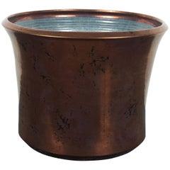 Beautiful Ceramic Planter with a Copper Glaze