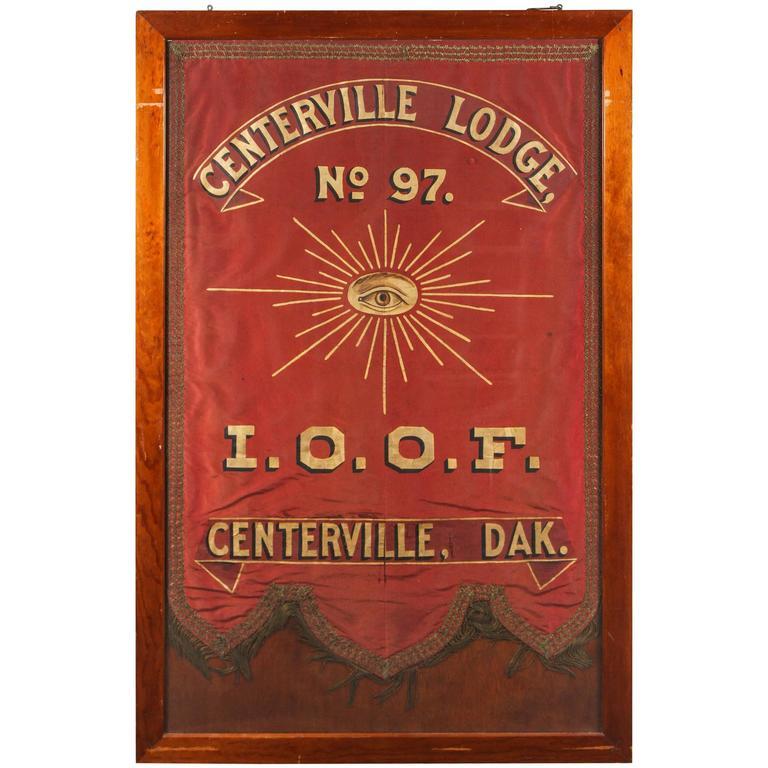 1880s Odd Fellows Lodge Banner From Dakota For Sale At 1stdibs