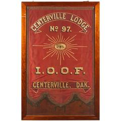 1880s Odd Fellows Lodge Banner from Dakota