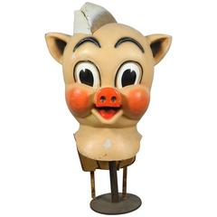 Vintage Iconic Piggly Wiggly Parade Advertising Costume Oversized Head