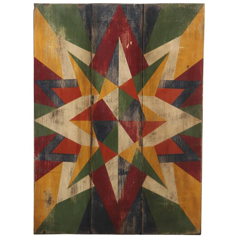 Anonymous Abstract Geometric Painted Board 1