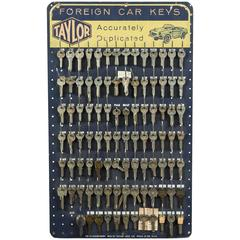 Mid-Century Obsessive Key Board Foreign Sports Car Key Collection