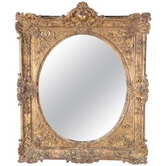 Antique French Gilt Carved Mirror