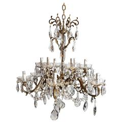 Gilt Bronze Twelve-Light Chandelier