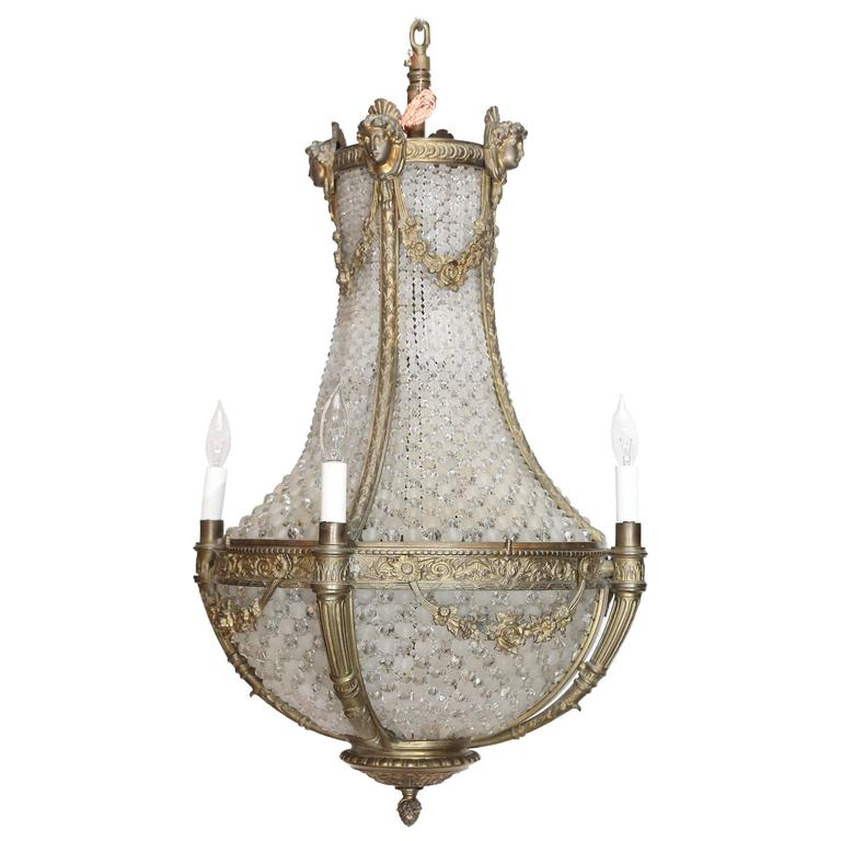 four light birdcage chandelier for sale at 1stdibs. Black Bedroom Furniture Sets. Home Design Ideas