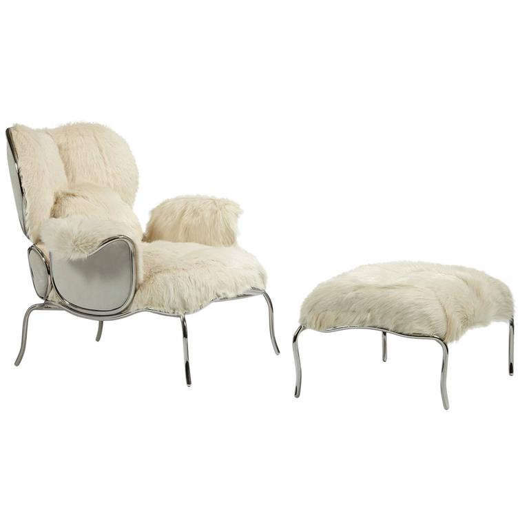 Armchair and Ottoman, 'Big Jim' by Mattia Bonetti For Sale
