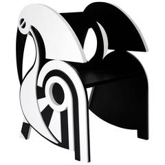Contemporary Black and White Children's 'Ibis' Chair by Material Lust, 2015