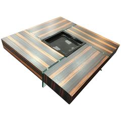 zebra wood coffee and cocktail tables - 7 for sale at 1stdibs